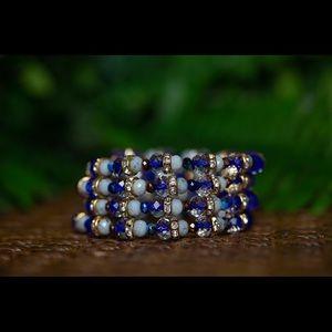 Rondelle Wire Wrap Bracelet